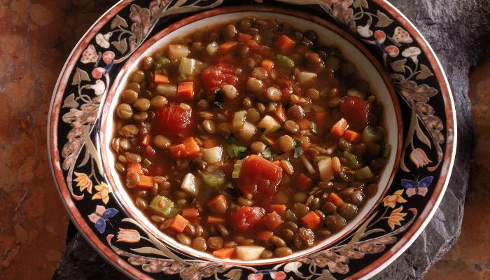 Receta: Sopa de Lenteja sin carne