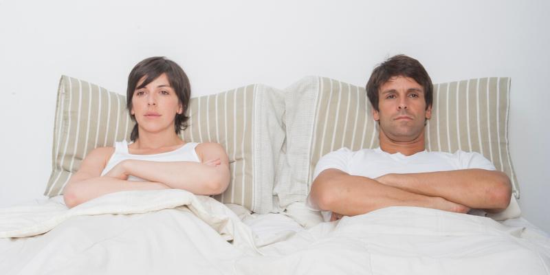 Consejo: El estrés y el sexo son malos compañeros en la cama.