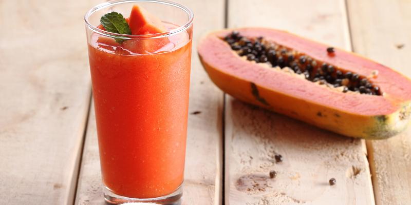 Receta: Batido de papaya con sándwich