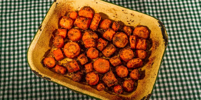 Receta: Zanahorias asadas